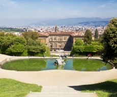 Picnic in Boboli Garden - The Boboli Gardens is a historic park of the city of Florence , connected with the Pitti Palace and Forte Belvedere .